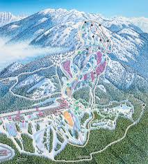 Map Of Usa Mountains by Trail Map Mt Seymour