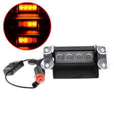 amber strobe lights for trucks amber 4 led hazard warning flashing strobe light with suction cup