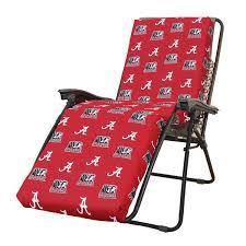 Cushions For Reclining Garden Chairs Amazon Com Ncaa Alabama Tide Zero Gravity Chair Cushion 72