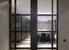 interior kitchen doors linear kitchen design glass doors interior design ideas adam