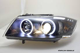 bmw headlights sw ccfl angel eye headlights bmw e90 e91 05 08 2 ccfl halo rings