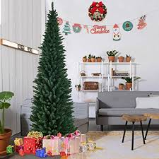 goplus 8ft pvc artificial pencil tree slim