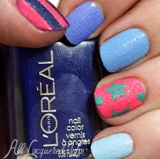 l u0027oreal miss denim collection textured nail art for manimonday