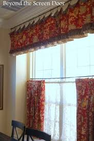 kitchen cafe curtains ideas the most asked about cafe curtain valance beyond the screen door