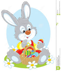 bunny basket eggs easter bunny with a basket of eggs stock image image 38287451