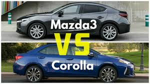 mazdau 2017 mazda 3 sedan vs toyota corolla se youtube