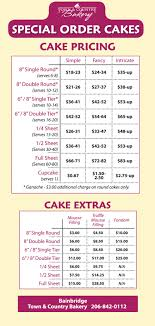 order cake special order cakes town and country markets