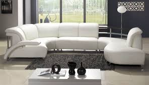 Modern White Bonded Leather Sectional Sofa White Bonded Leather Sectional Sofa Tos Lf 401