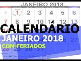 Calendario 2018 Feriados Portugal Calendá Janeiro 2018 Feriados Para Imprimir