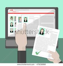 find resume find resume hiring finding staff on stock vector 432610471