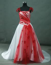 Red And White Wedding Dresses Red Wedding Dresses Bridal Gowns With Color Red And White
