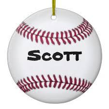 baseball snowman ceramic ornament zazzle