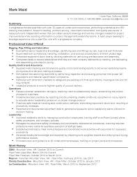 resume format for quality control engineer piping field engineer sample resume piping foreman resume