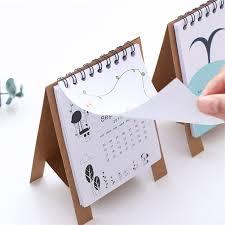 mini desk calendar 2017 paper desk calendar 2017 2018 cute flamingo mini table calendars