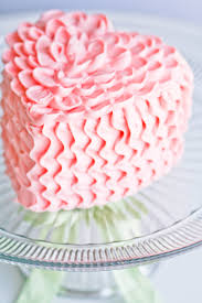 Heart Ruffle Cake Http Www Facebook Com Pages Sweet Escape Cakes