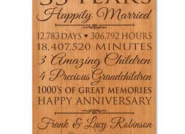 35th anniversary gifts 14 5 year wedding anniversary gift for personalized 35th
