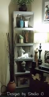 Woodworking Plans Corner Bookshelf by Build A Corner Bookcase Using A Door Hometalk
