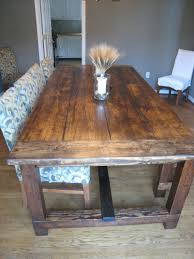 rustic dining room table with bench wood kitchen tables and chairs making rustic kitchen tables as