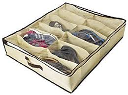 amazon com zizhome under bed shoe organizer for kids and adults