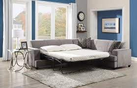 Most Comfortable Sleeper Sofa L Shaped Gray Velvet Sectional Sleeper Couch Mixed White Shades