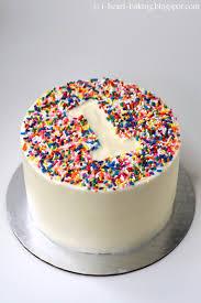 1st birthday cake i heart baking rainbow sprinkle birthday smash cake