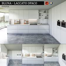 kitchen collection com furniture kitchen bluna laccato opaco 3d model cgtrader