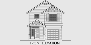 Narrow Lot House Plans With Rear Garage Narrow House Plan At 22 Feet Wide Open Living 3 Bedroom 2 5 Baths