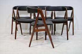 mid century danish teak dining chairs by th harlev for farstrup