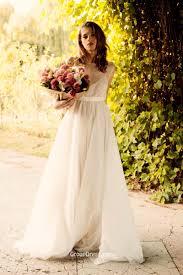 ivory sleeveless a line floor length simple fall wedding dress