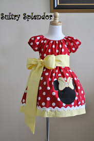 red polka dots minnie mouse peasant dress applique sale