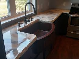 slab sink glossy stained stone slab made with cast concrete surecrete products