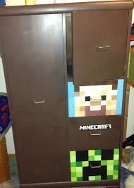 Minecraft Bedroom Furniture Real Life by Minecraft Dresser I Painted Kid Rooms Pinterest Minecraft