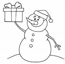 printable coloring pages christmas snowman present christmas