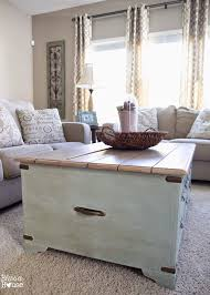 faux planked coffee table makeover card catalog style bless u0027er