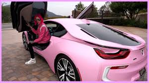 matte black and pink bmw my new barbie bmw i8 jeffree star 4k ultra hd youtube