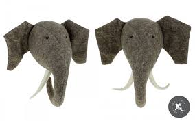 elephant head wall trophy wall decors for kids room felt animal