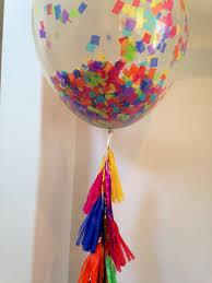balloon delivery peoria il rainbow balloon tassel 36 clear confetti balloon tassel
