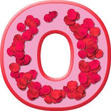 presentation alphabets rose petals letter o