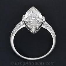 cartier 3 98 carat marquise art deco diamond ring
