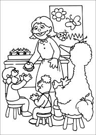 free printable sesame street coloring pages kids sesame