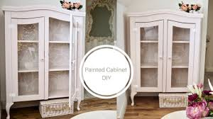 shabby chic china cabinet how to paint a china cabinet shabby chic cottage style youtube