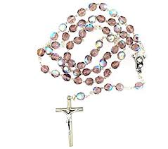 purple rosary catholic purple rosary with glass made