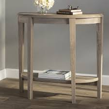 half moon console table with drawer andover mills blakeway half moon console table birch lane