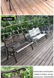new products on china market wrought aluminum garden bench metal