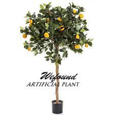 wf07301 plastic artificial mini palm trees 90cm golden orange tree