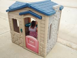 outdoor charming little tikes playhouse for cute kids playground