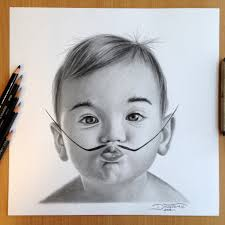 beautiful pencil sketches of babies salvador dali ba pencil