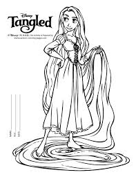 disney tangled coloring pages printable rapunzel color pages