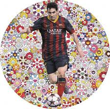 Lionel Messi Halloween Costume Damien Hirst Painting Barcelona U0027s Lionel Messi Auctioned