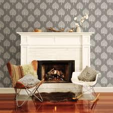 Grey Wallpaper Living Room Uk A Street Prints Grove Grey Wallpaper Fd22706